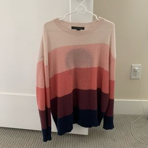 Skull Cashmere pink and navy sweater